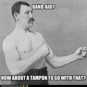 Overly Manly Man Bandaid
