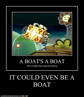 IT COULD EVEN BE A BOAT