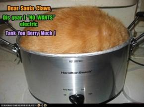 Dear  Santa  Claws,