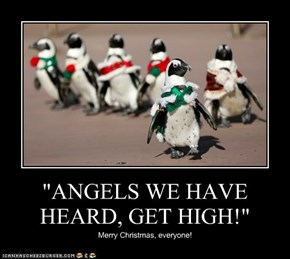 """""""ANGELS WE HAVE HEARD, GET HIGH!"""""""