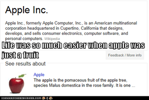 Life was so much easier when apple was just a fruit