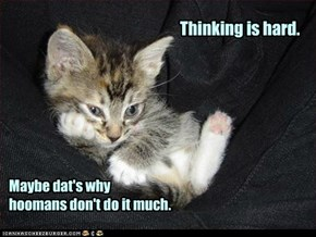 Ai think, derfore ai am ... thinking.