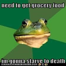 need to get grocery food  im gonna starve to death
