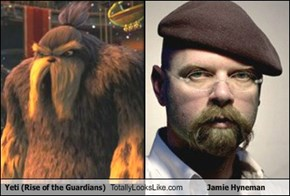 Yeti (Rise of the Guardians) Totally Looks Like Jamie Hyneman