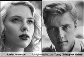 Scarlet Johansson Totally Looks Like Young Christopher Walken