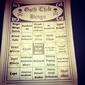 Goth Club Bingo