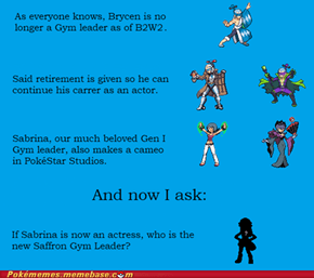 Saffron New Gym Leader?