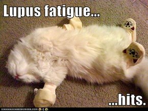 Lupus fatigue...  ...hits.