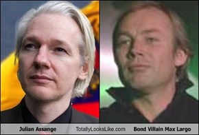 Julian Assange Totally Looks Like Bond Villain Max Largo