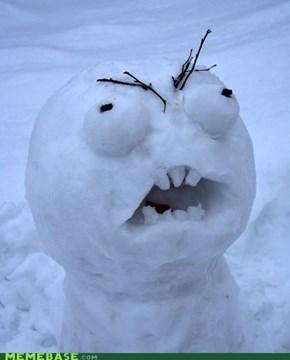 Rage Guy Snowman