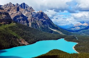The Crystal Hues of Peyto Lake