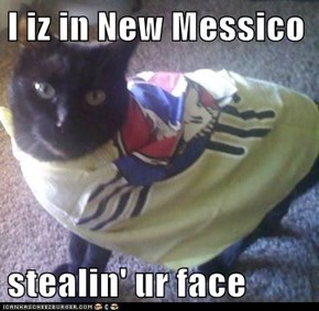 I iz in New Messico  stealin' ur face