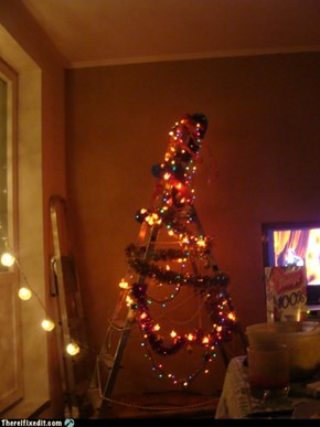 Christmas With a Spruce Stepladder
