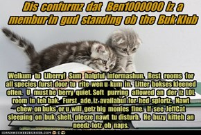 Offishul JeffCatsBookClub Memburship Kard for Ben1000000