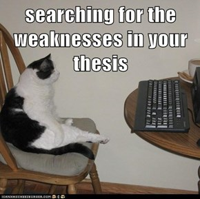 searching for the weaknesses in your thesis
