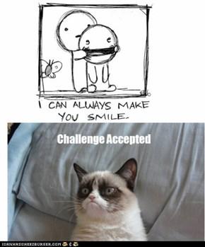 Grumpy Cat never smiles!