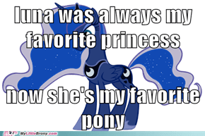 luna gets brony points