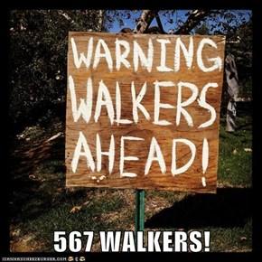 567 WALKERS!