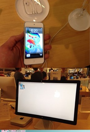 What happens when I'm in an Apple Store