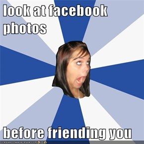 look at facebook photos  before friending you