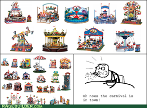 Cereal Guy doesen't like carnivals