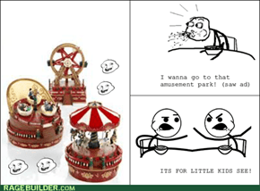 Cereal Guy likes kiddie amusement parks