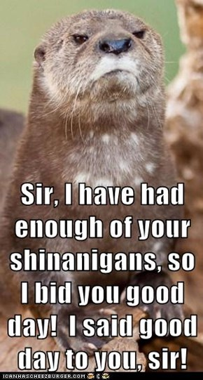 Animal Capshunz: You Have Offended Me, Sir!