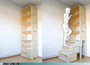 Your Daily Bookcase: Need Stairs?
