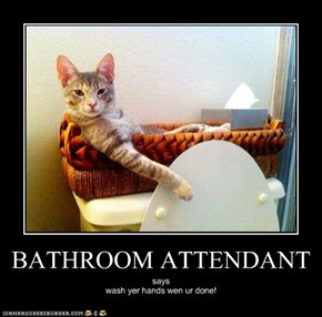 BATHROOM ATTENDANT