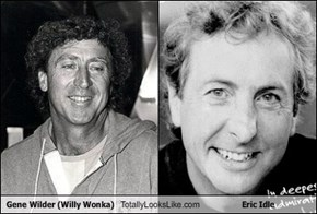 Gene Wilder (Willy Wonka) Totally Looks Like Eric Idle