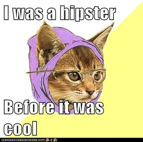 I was a hipster   Before it was cool