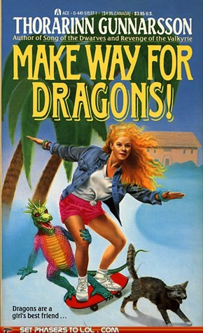 WTF Fantasy Book Covers: Make Way for Dragons