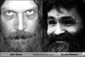 Alan Moore Totally Looks Like Charles Manson