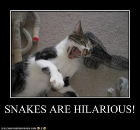 SNAKES ARE HILARIOUS!