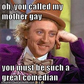 oh, you called my mother gay  you must be such a great comedian