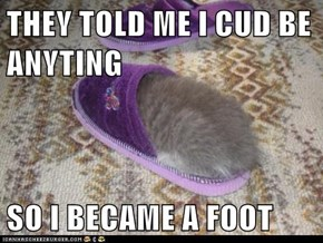 THEY TOLD ME I CUD BE ANYTING  SO I BECAME A FOOT