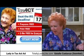 Lady in Tax Act Ad Totally Looks Like Estelle Costanza (Seinfeld)