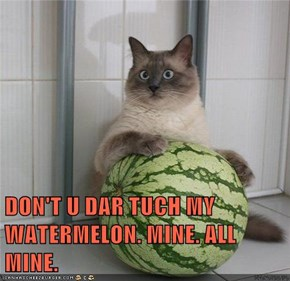 DON'T U DAR TUCH MY WATERMELON. MINE. ALL MINE.