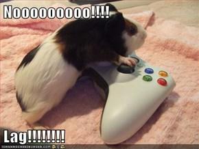Nooooooooo!!!!  Lag!!!!!!!!