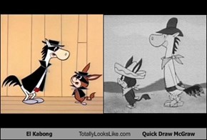 El Kabong Totally Looks Like Quick Draw McGraw