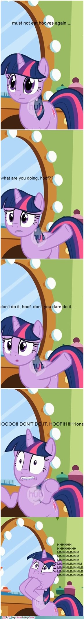 twilight loves the taste of her hoof