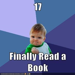 17  Finally Read a Book