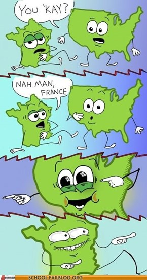 Geography 101: Oh USA.