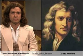 Justin Timberlake as Robin Gibb Totally Looks Like Isaac Newton