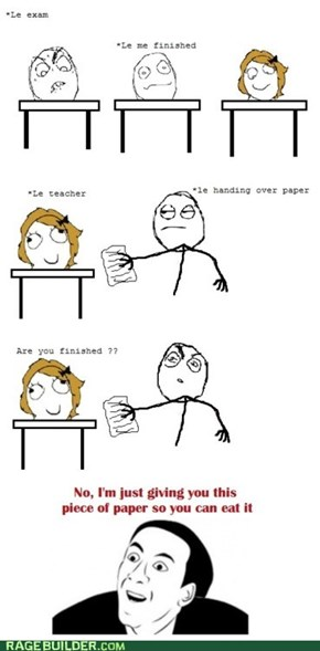 Teacher Ate My Homework