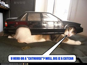 "U HERD OB A ""CATHOUSE""? WELL, DIS IZ A CATCAR"