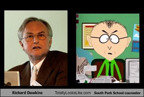 Richard Dawkins Totally Looks Like South Park School counselor
