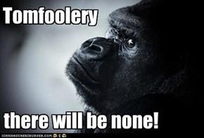 Serious gorilla is serious