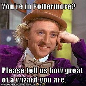 You're in Pottermore?  Please tell us how great of a wizard you are.