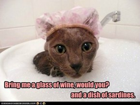 Lolcats: Bring me a glass of wine, would you?